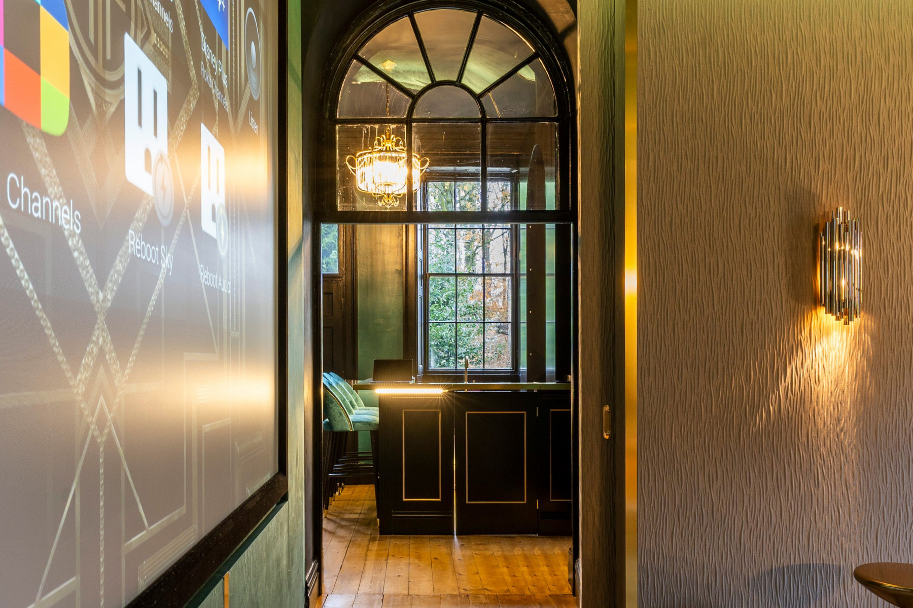 Luxury home cinema and bar with Control 4 automation