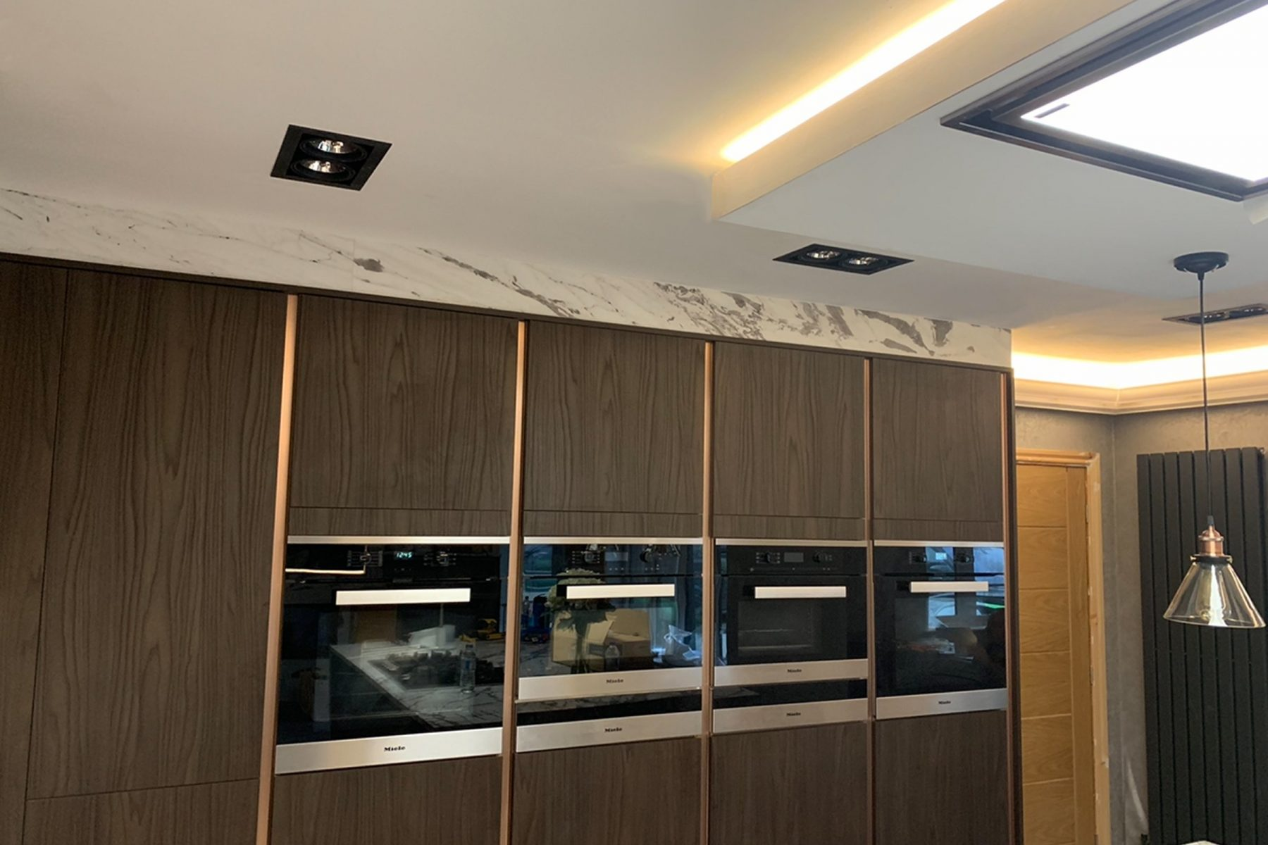 Kitchen with Control 4 automation