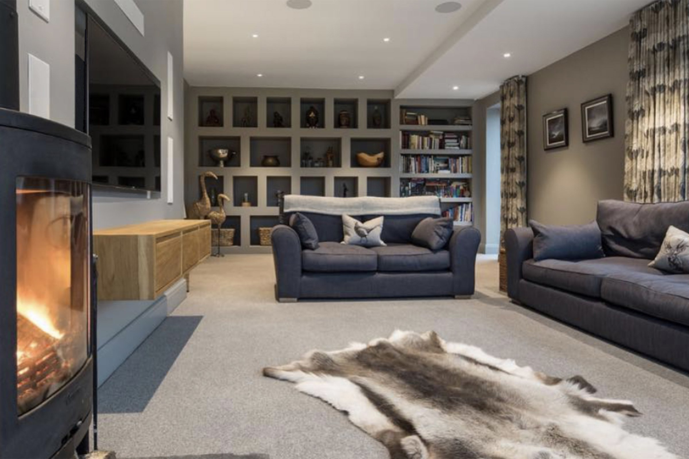 Living room with Dolby Atmos surround sound
