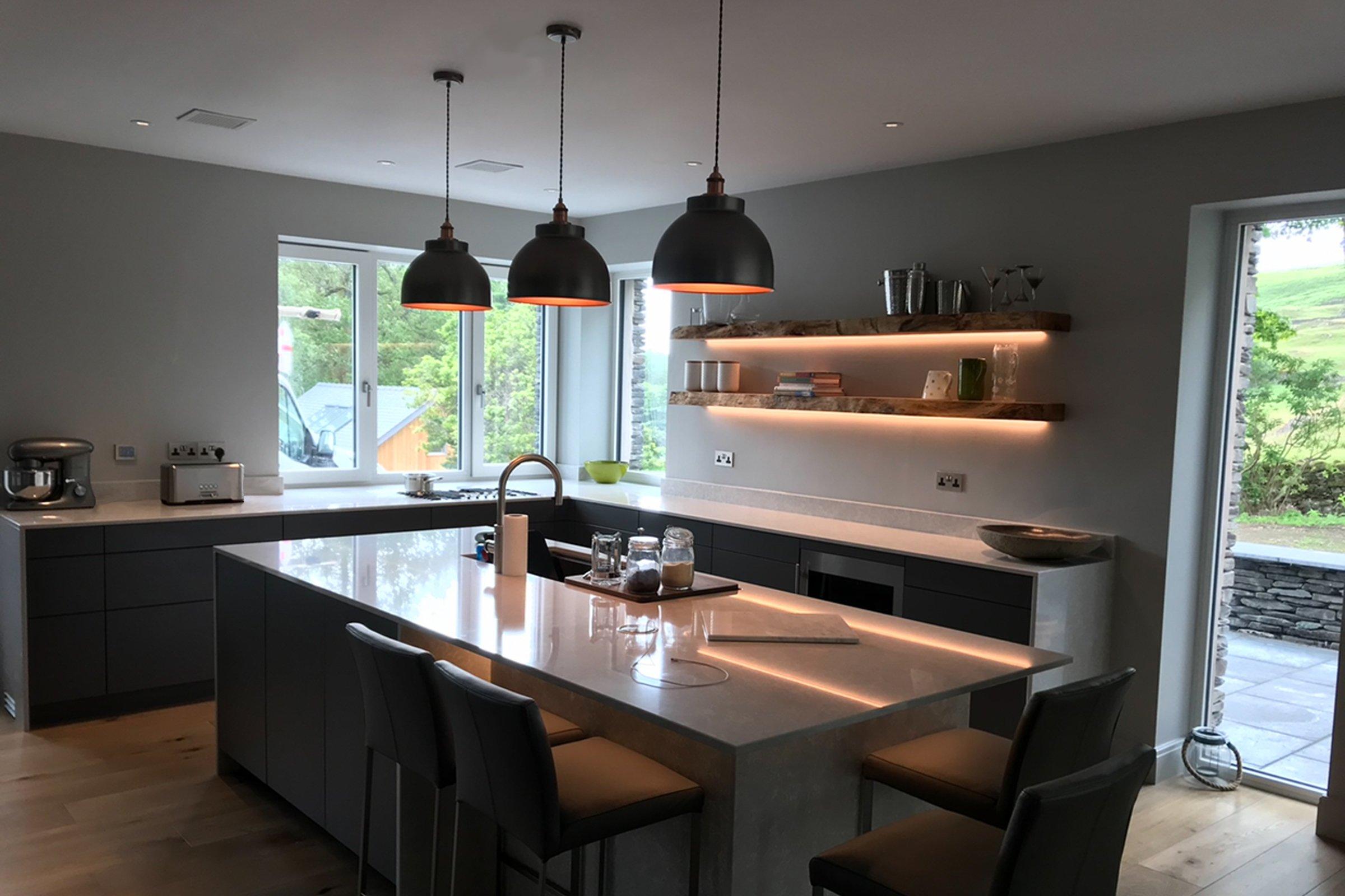 Luxury kitchen with Savant audio system