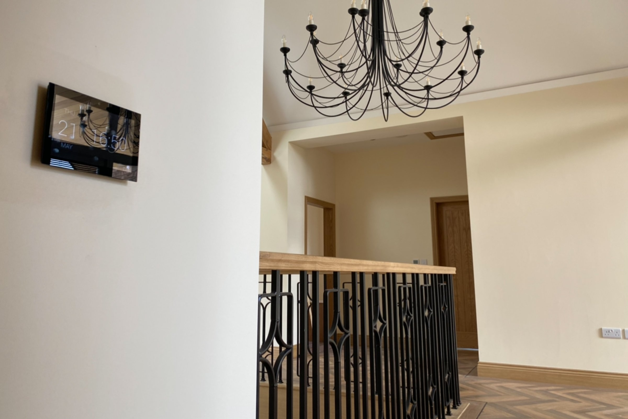 Whole house Control 4 system with Lutron lighting