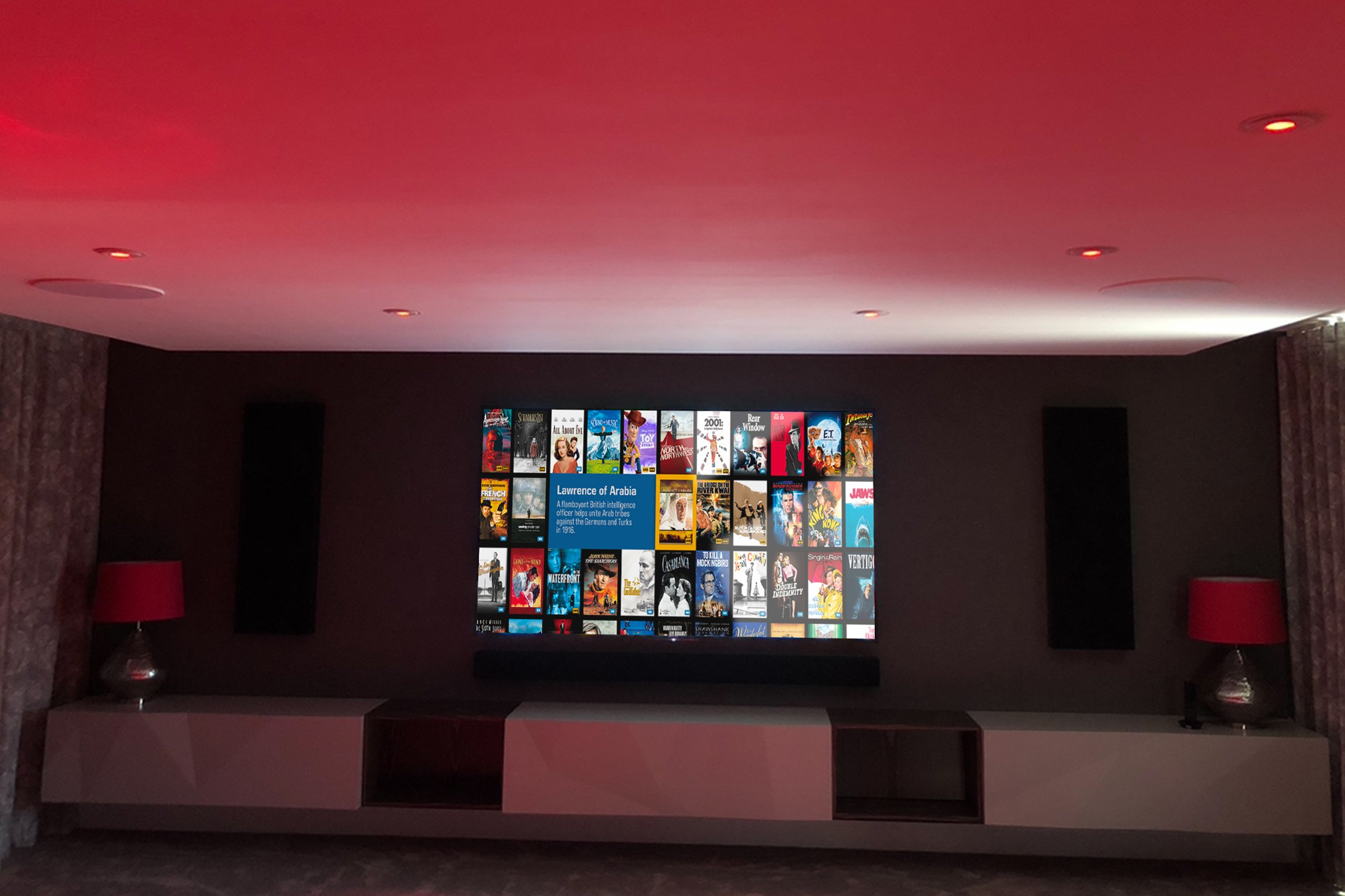 Dolby Atmos media room with Artcoustic speakers