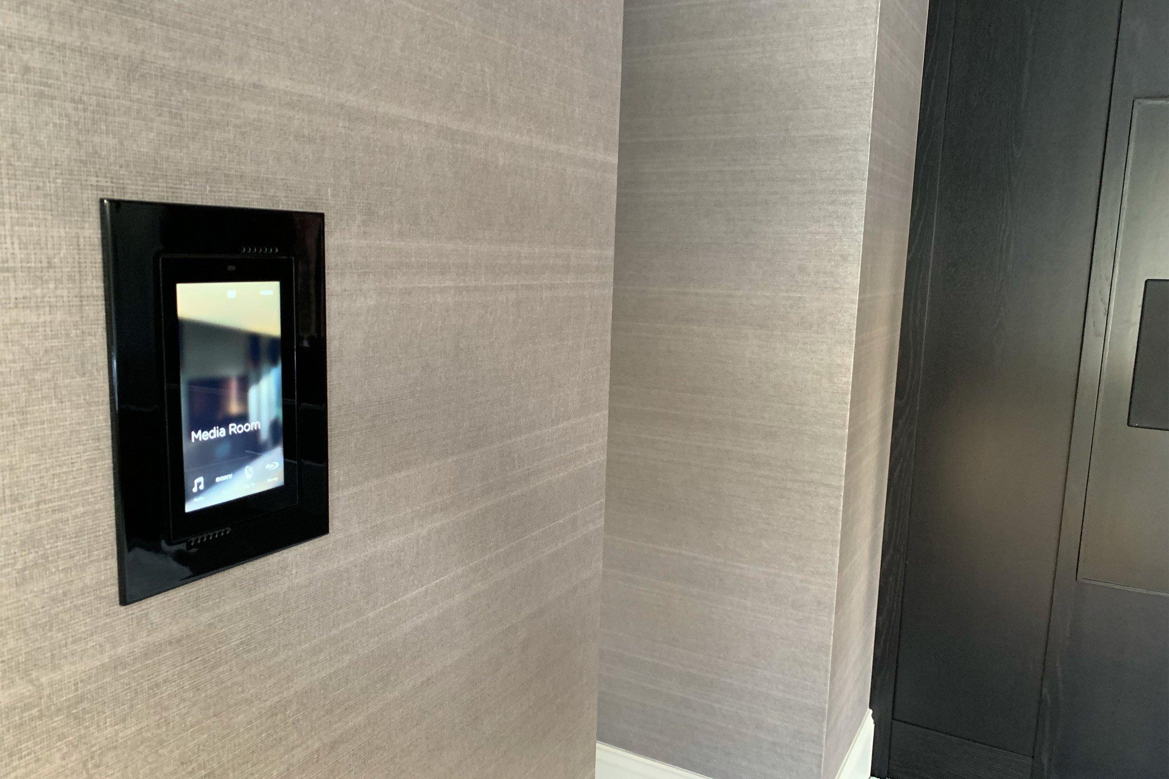 Savant in-wall touchscreen