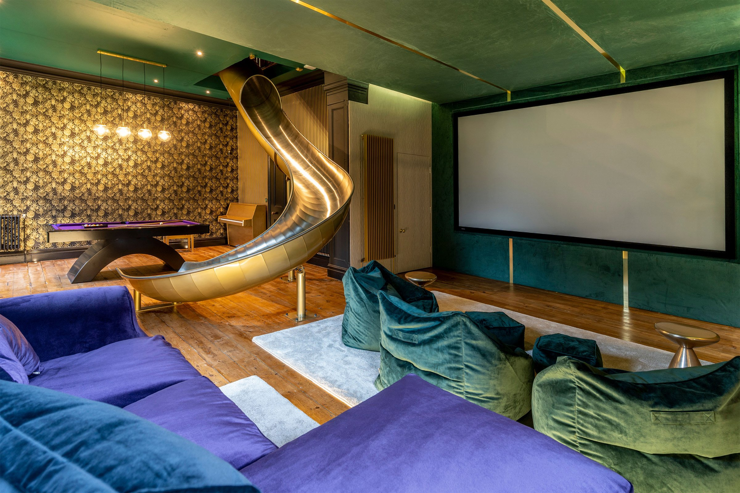 Luxury cinema and entertainment space with Control4 automation