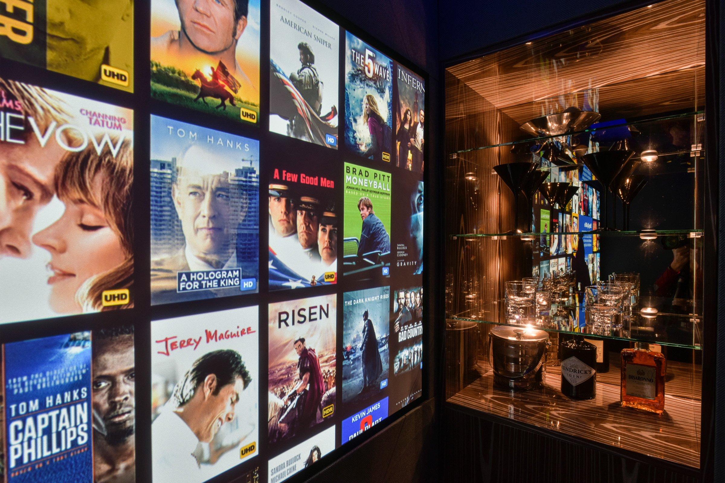 Home cinema with Kaleidescape movie server
