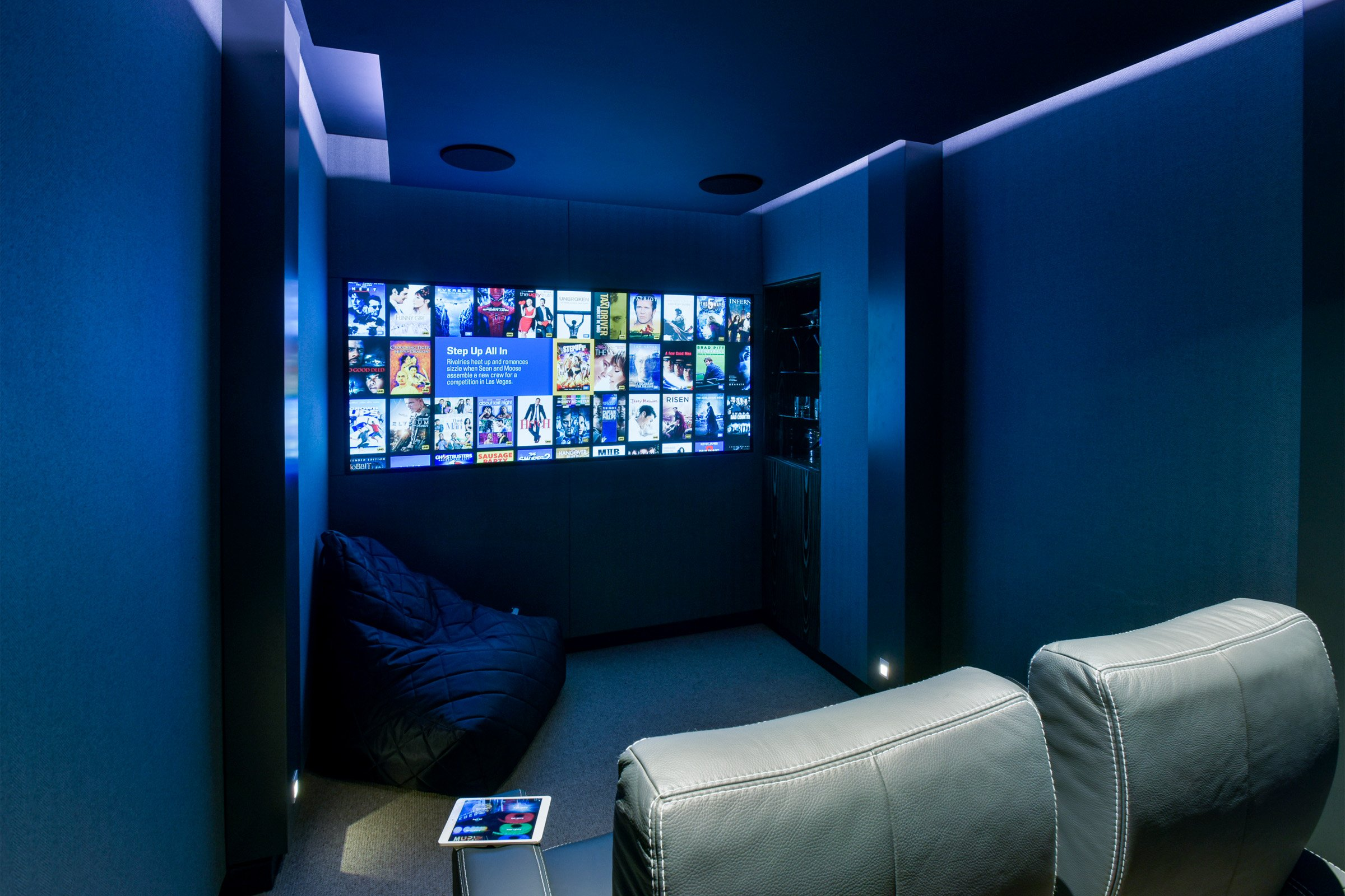 Two person cinema with Rako lighting control and Artcoustic speakers