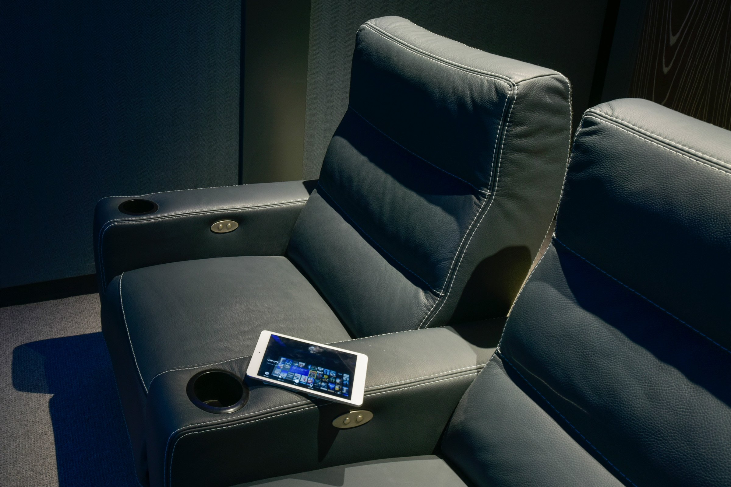 Colour matched bespoke cinema seats